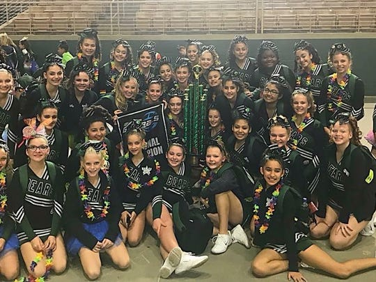 The Naples Bears JV cheerleaders will compete for a Pop Warner national championship Friday at Disney's Wide World of Sports complex. Members of the team include: Emmerson Baxley, Lizzy Benitez, Ashlyn Bonyman, Daniela Cadavid, Hayley Caron, Yasmine Corral, Isabella Delashmet, Haley Derossett, Maddie Eastman, Ashlee El-Yamani, Yulizay Figueredo, Chantal Flores, Felicity Galvin, Edith Garcia, Bailey Giles, Jena Gutierrez, Arianna Guyer, Chaise Krecow, Taqueria Lesane, Kayla Mendicino, Kailey Miller, Callie Monville, Marissa Morieko, Isabella Moser, Anais Ortega, Paige Pacheco, Gabby Pinero, Chloe Quinlan, Jennifer Ramirez, Mia Ramos, Kylie Thompson, Ryleigh Tomlinson, Alys Torres, Leslie Torres and Montsi Veloz-Lora. the team is coached by Lisa El-Yamani.