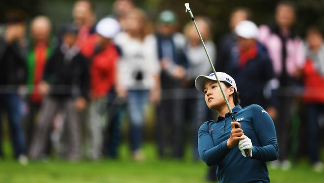EVIAN-LES-BAINS, FRANCE - SEPTEMBER 17:  In Gee Chun of Korea plays a shot during the third round of The Evian Championship on September 17, 2016 in Evian-les-Bains, France.  (Photo by Stuart Franklin/Getty Images) ORG XMIT: 598024219 ORIG FILE ID: 607249352