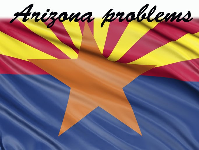You've heard of first-world problems? You know, the kind that really aren't problems at all? Arizona has some of those, too. But it also has a set of actual problems that need to be solved. A few simple diagrams to help you tell the difference: