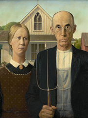 "The famous painting, ""American Gothic,"" gave Paris"