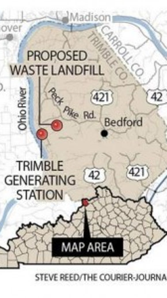Where the plant and landfill are located.