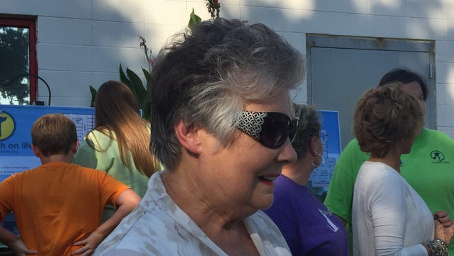 Wilson County Commissioner Joy Bishop at a groundbreaking Friday for a new spay and neuter clinic she has donated approximately $700,000 to build.