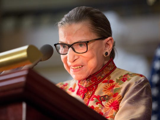 Justice Ruth Bader Ginsburg warned that switching to eligible voters would have left out women a century ago.