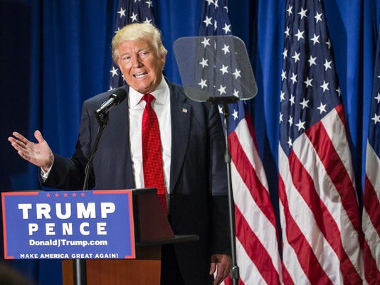 GOP Presidential Candidate Donald Trump Campaigns In Cleveland