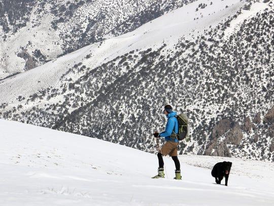 Rick Gunn of South Lake Tahoe enjoys the view while