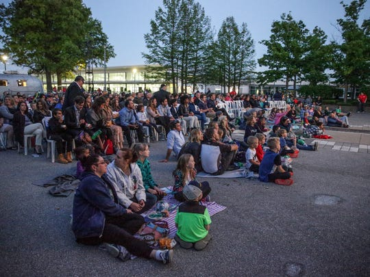 """Guests and cast members watch the  Indianapolis Motor Speedway premiere of """"Diary of a Wimpy Kid: The Long Haul"""", May 12, 2017."""