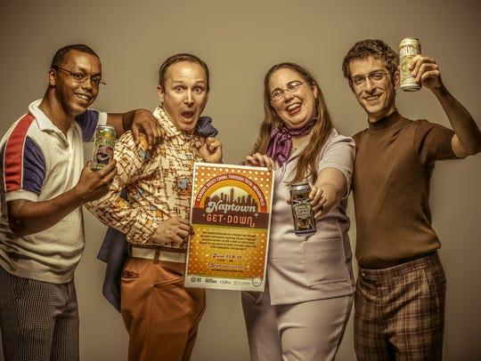 Left to right, Actors Evan Cole, Jay Hemphill, Anna