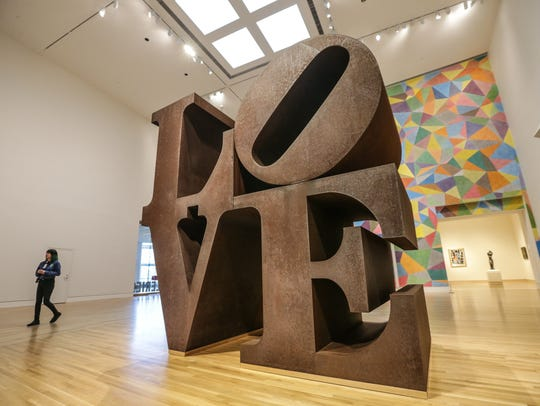 The original LOVE sculpture, 1970, by Robert Indiana