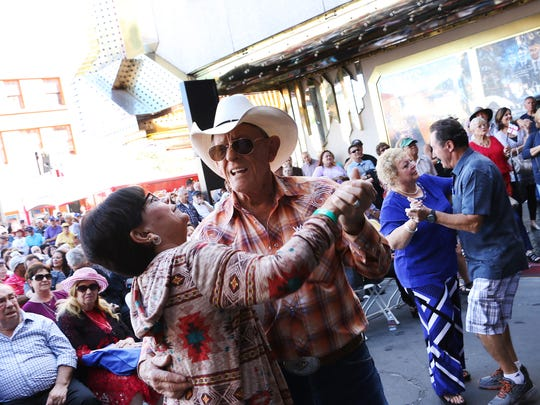 Couples dance during the Eldorado Great Italian Festival in downtown Reno on Oct. 7, 2017. Jason Bean/Reno Gazette-Journal- USA TODAY NETWORK