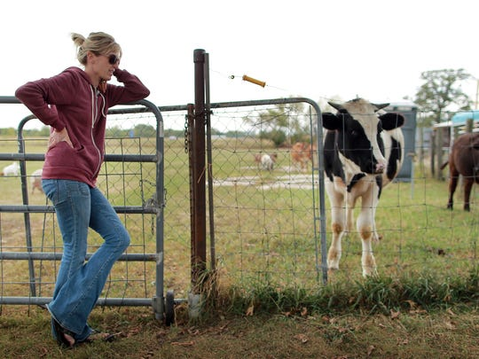 Shawn Camp is pictured at the Iowa Farm Sanctuary in Marengo, IA.