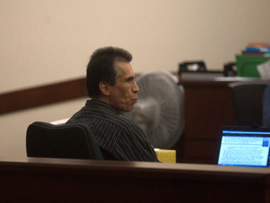 Defendant Rick Stallings defended himself in his murder trial in Aztec District Court.