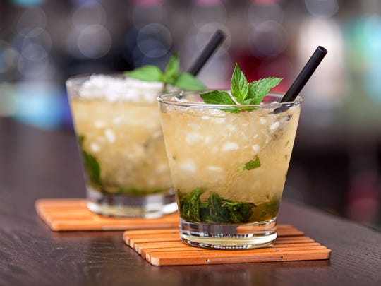 Try a pitcher of mint juleps, then shake individually into glasses filled with crushed ice.