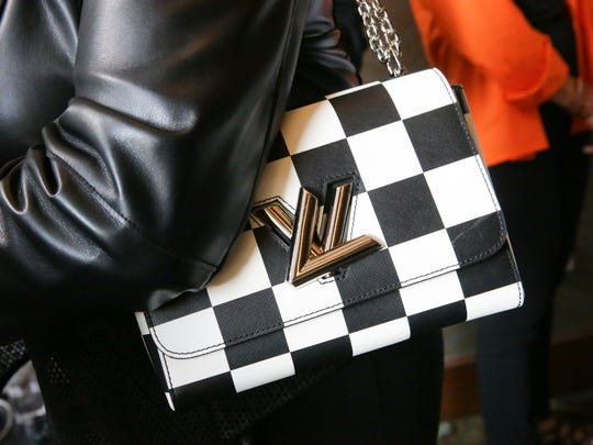 A Louis Vuitton purse is shown in this file photo. Nearly $8 million worth of fake merchandise was recently seized by federal authorities from a Cincinnati shipping hub. The merchandise included ersatz Louis Vuitton purses, Rolex watches, designer apparel and other high-end goods.