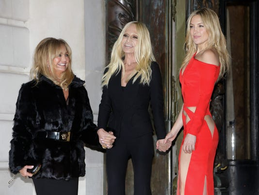 Goldie Hawn, Donatella Versace and Kate Hudson