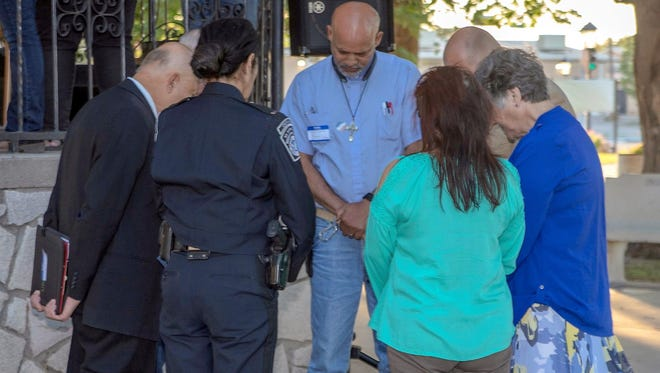 "Over 150 attended the National Day of Prayer on Thursday, May 3, at Luna County Courthouse Park. The national event marked the 67th annual and the theme for this year's prayer was ""Unity of the Body of Christ."" Approximately 31 pastors and ministers participated in the event and led the non-denominational crowd in prayer, and with prayer banners. Prayers were offered for government, media/art, business, church, family, medical, military and education."