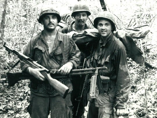 Bob Conway, right, during his stint in Vietnam from
