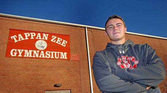 Tappan Zee's soccer defender Joe Stahl who was photographed