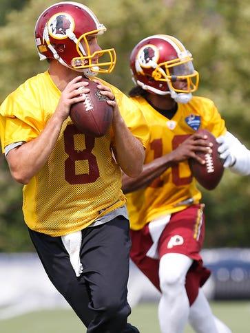 Will Redskins QB Kirk Cousins (8) bypass Robert Griffin
