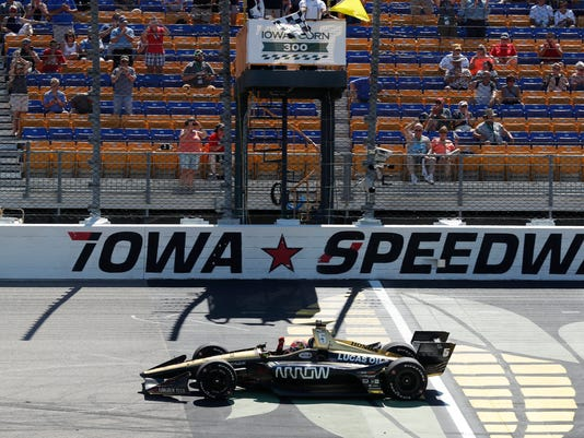 AP INDYCAR IOWA AUTO RACING S CAR USA IA