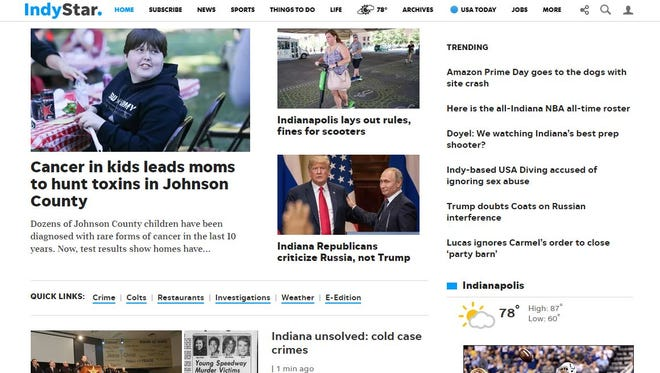 A look at the new face of IndyStar.com