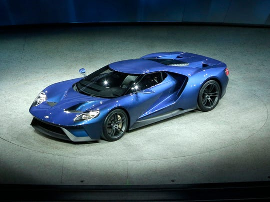 Ford introduced the Ford GT supercar during the 2015 North American International Auto Show at Cobo Center on Monday, Jan. 12, 2015 in Detroit.