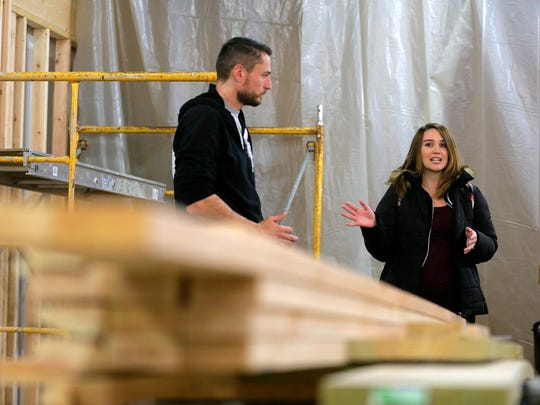 Mike and Chelsey Ziolkowski, owners of the Bradley Brew Project, a craft brewery in Bradley Beach which is currently under construction, talk about their plans for the business in Bradley Beach, NJ Wednesday, January 3, 2018.