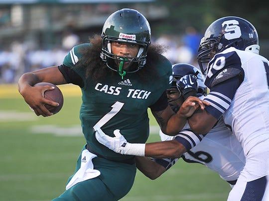 Jayru Campbell, playing for Detroit Cass Tech.
