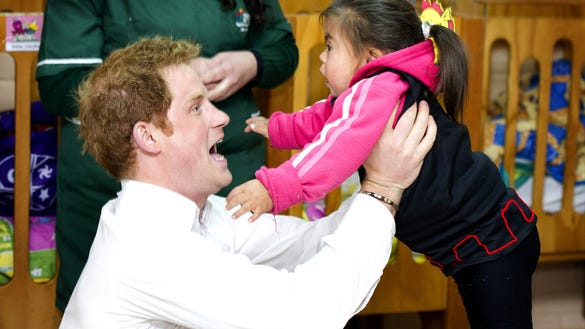 Prince Harry and toddler