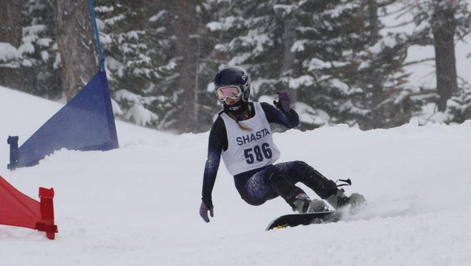 Shasta High's Sage Will finished third in the girls giant slalom snowboard race Monday at the CNISSF state championships at Northstar at Tahoe.
