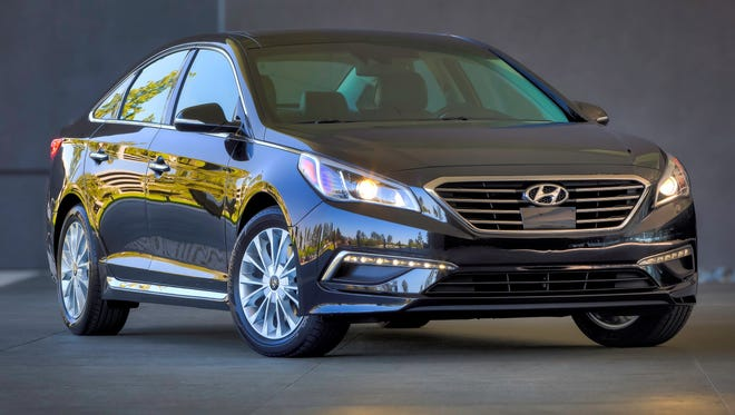 The Hyundai Sonata is fully redone for 2015, but suffered a double-digit sales drop vs. the old model's sales a year ago.