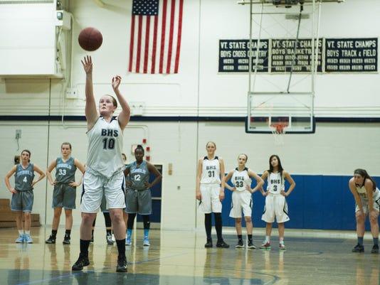 South Burlington vs. Burlington Girls Basketball 02/02/16