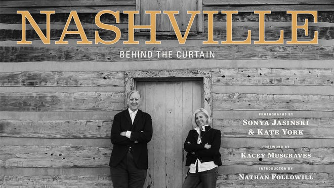 """Music producer T Bone Burnett and """"Nashville"""" creator Callie Khouri are featured on the cover of Sonya Jasinski and Kate York's new book of photos, """"Nashville: Behind the Curtain."""""""