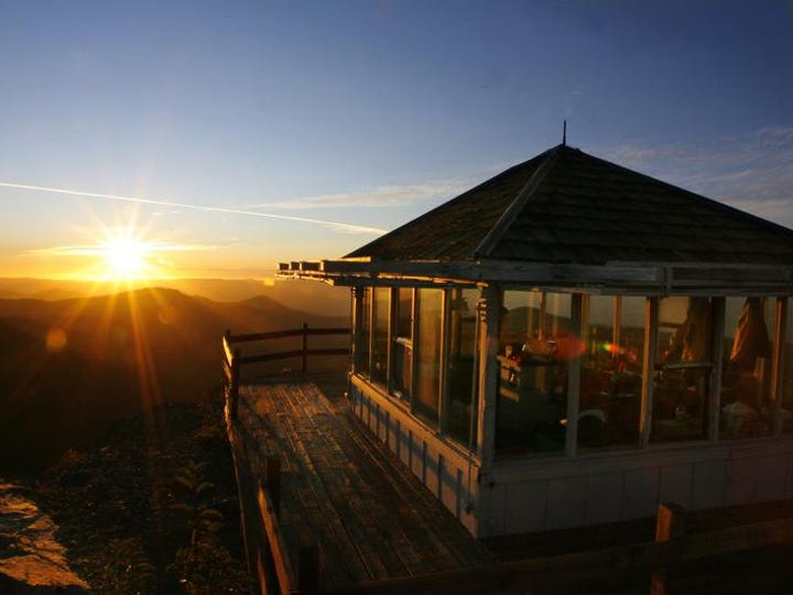 Bolan Mountain Lookout sits in a remote section of the Siskiyou Range in Southern Oregon. It can be rented by the public but is very popular due to the amazing views and must be reserved six months in advance.