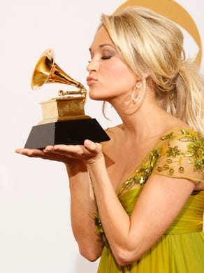 During the 2009 Grammys, after she won best female