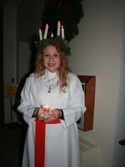 Karen Radi represented Santa Lucia at the Salem Lutheran