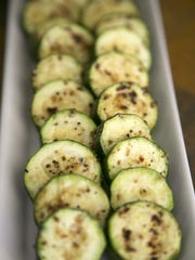 Grilled Zucchini with Lemon Pepper at Robin Miller's