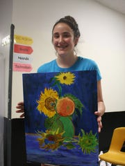 """Lucy Beattie re-created """"Sunflowers"""" by Vincent Van"""
