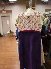 """This dress, used in Johnson City High School's production of """"How to Succeed in Business Without Really Trying,"""" was worn in the original 1995 Broadway revival of the show."""