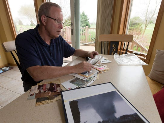Wayne Weis, whose Stoughton home was destroyed by a
