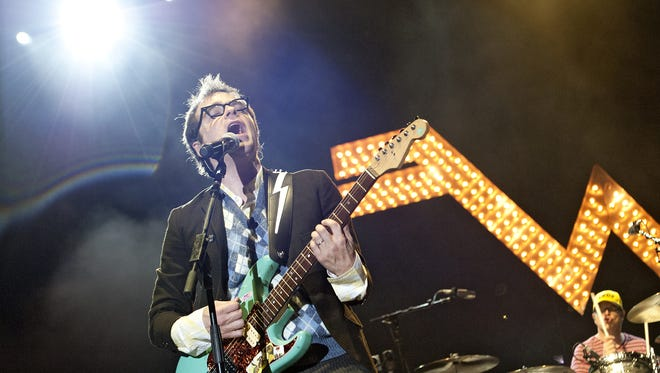 Weezer's show at Klipsch Music Center in Noblesville, Indiana, is on the list.