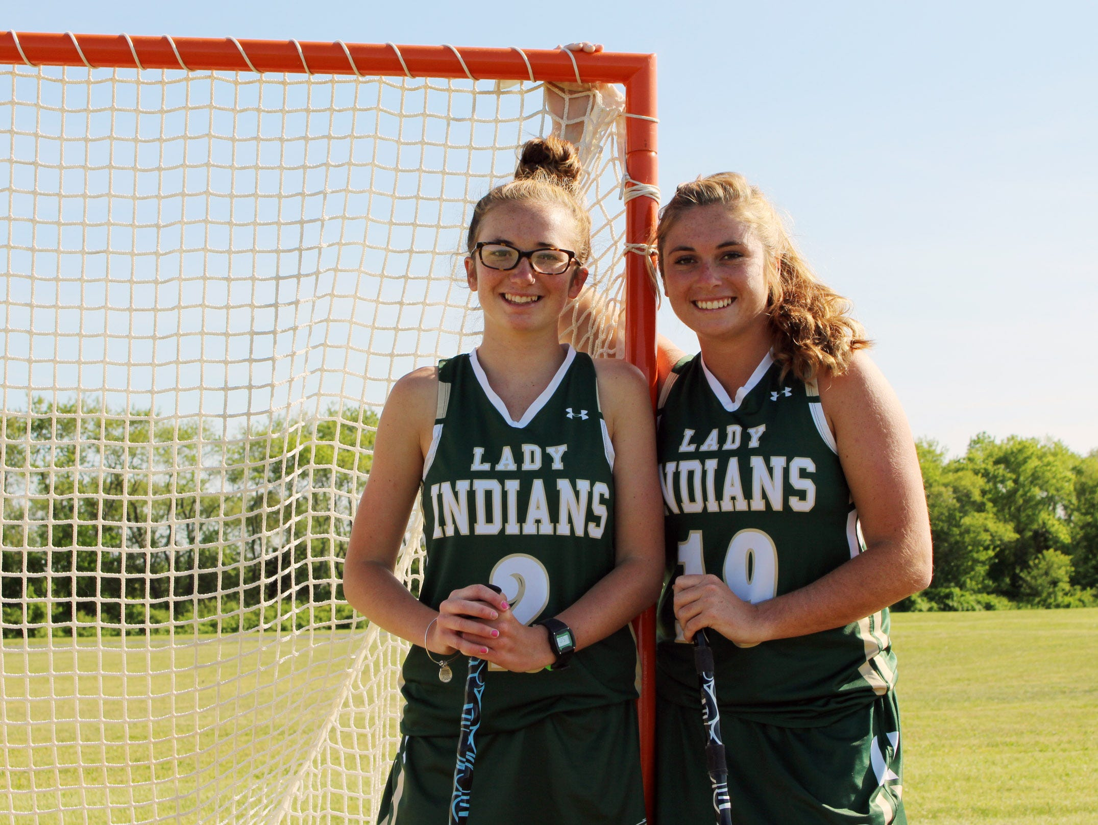 Senior Maggie Allison never got to play lacrosse at her home school, Indian River. Her freshman sister, Kealey Allison, never thought she would play with her older sister, but the addition of the lacrosse program was just in time for these two sisters.
