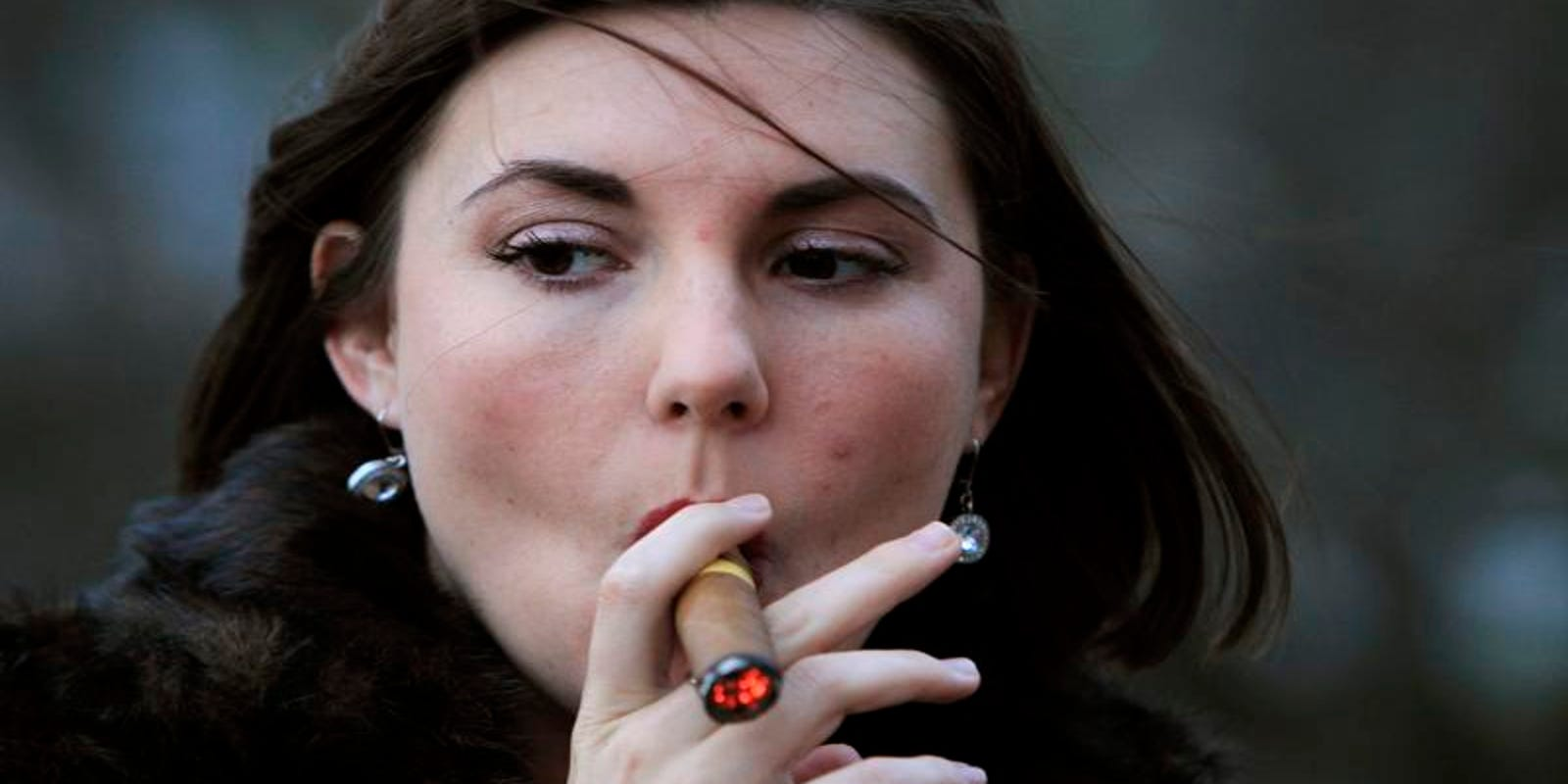 More women are smoking cigars, but