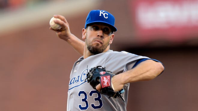 James Shields has averaged 33 starts per season since 2007.