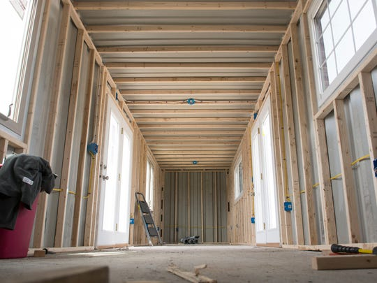The incomplete inside of Assateague Outfitter's new