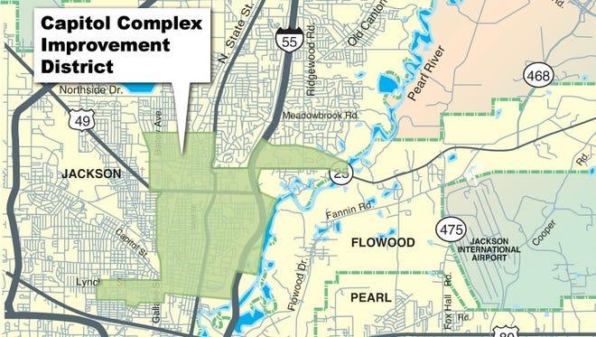 Boundaries for the Capitol Complex Improvement District