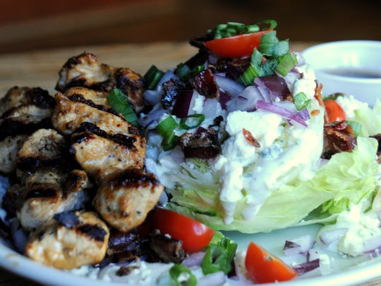 Dark City Deli & Pub offers a wedge salad with grilled