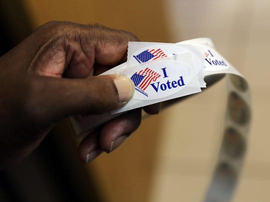 "Generic image of ""I Voted"" sticker."