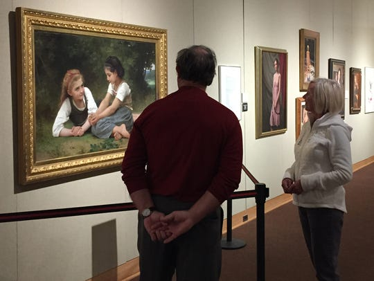 Don Newport and Cathy O'Connor admire the Detroit Institute