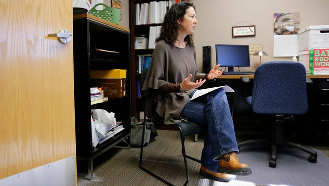 Executive Director Eleana Butler speaks about testing sexual assualt kits during an interview on Friday at Sexual Assault Services of Northwest New Mexico in Farmington.