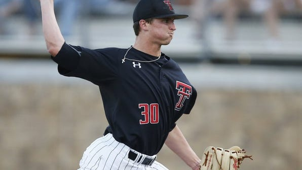 Texas Tech's Davis Martin pitches against East Carolina